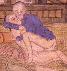 Beijing Hand Scroll: Young men engaged in erotic play